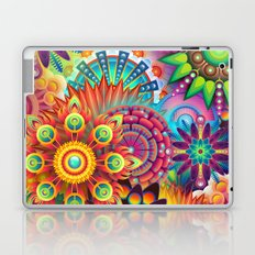 Psychedelic Colorful Bloom Laptop & iPad Skin