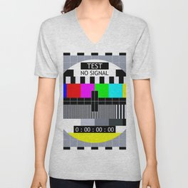 Retro TV Test Pattern Unisex V-Neck