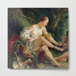"François Boucher ""Diana's Return from the Hunt"" or ""Diana After the Hunt"" Metal Print"