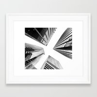Framed Art Prints featuring New York Buildings by Orbon Alija