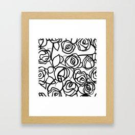 Bold Black Rose Print Framed Art Print