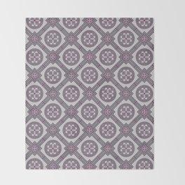 Flourishing Heart Abstract Seamless Pattern Throw Blanket