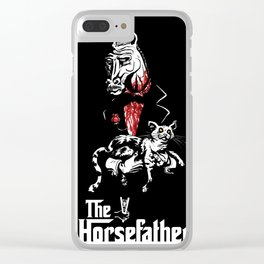 The Godfather of Horses Clear iPhone Case