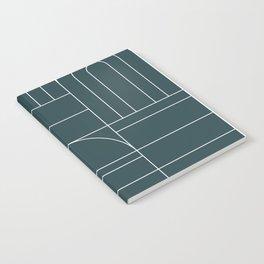 Deco Geometric 04 Teal Notebook