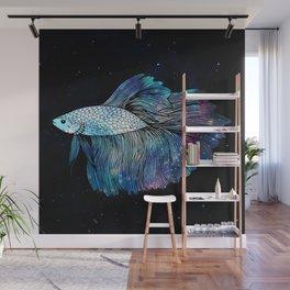 Betta Fish Galaxy Wall Mural