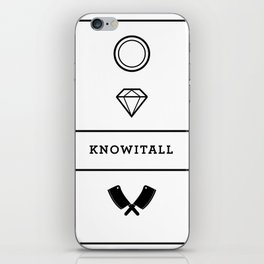 Knowitall iPhone Skin