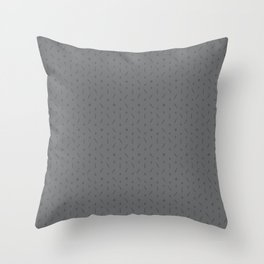 Claymore 7 Pattern - Medium Grey Throw Pillow