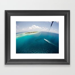 Dreams of small islets Framed Art Print