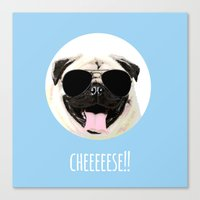 cheese Canvas Prints featuring CHEESE by Laura Maria Designs