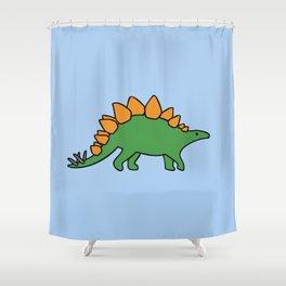 Cute Stegosaurus Shower Curtain