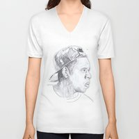 jay z V-neck T-shirts featuring Jay Z - Go Home by davidcain_art