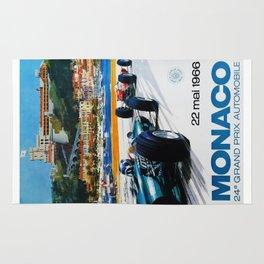 Gran Prix de Monaco, 1966, original vintage poster Rug