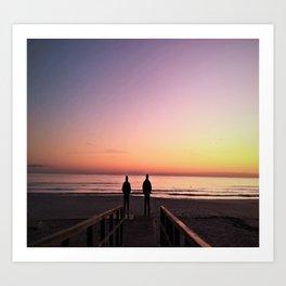 Waiting for sunrise Art Print