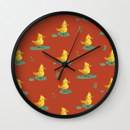 ducks love rain Wall Clock