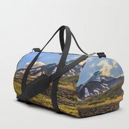 Looking at a Volcano Duffle Bag