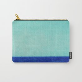 sea, blue, horizon, turquoise, greenish-blue, vocation, summer, leisure, beach, ocean, gulf Carry-All Pouch