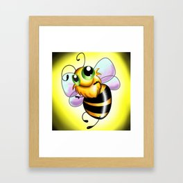 Oh Bee-Have! Framed Art Print