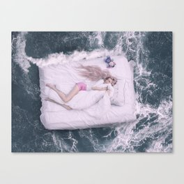 Floating Bed Canvas Print