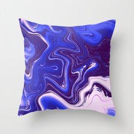 Liquid Neon Throw Pillow