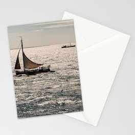 Dutch Sailboat on the North Sea close to Terschelling Stationery Cards