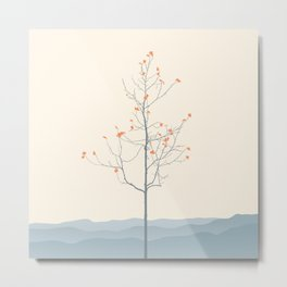 Twig Tree - Serenity Metal Print