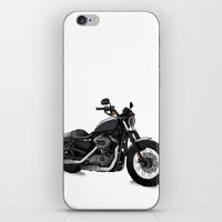 motorbike iPhone & iPod Skins featuring Harley motorbike by Tina Lekse