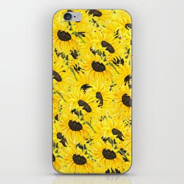 sunflower pattern 2018 1 iPhone Skin