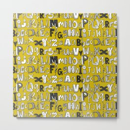 ABC yellow Metal Print