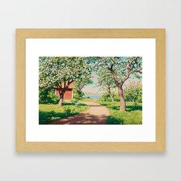 JOHAN KROUTHÉN, BLOSSOMING APPLE TREES. Framed Art Print