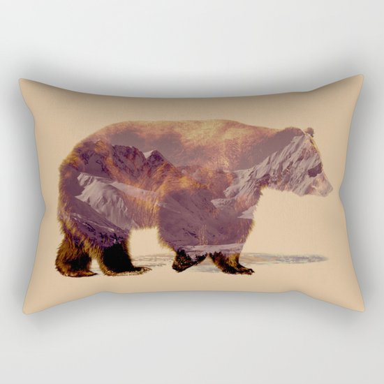 Glacier Grizzly Rectangular Pillow