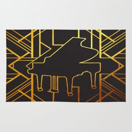 Art Deco Piano Rug