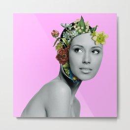 Floral Queen Metal Print