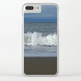 Spraying sea Clear iPhone Case