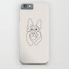 One line German Shepherd iPhone Case