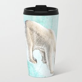 Polar bear on thin ice Travel Mug