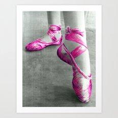 Ballet Shoe Pink Art Print