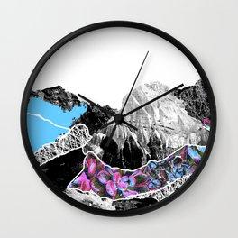 Floral landslide Wall Clock