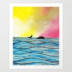 Whales O'Hoy Art Print