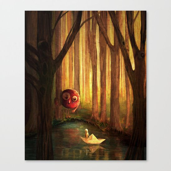 Forest Encounter Canvas Print
