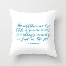 Find You in The Sea Throw Pillow