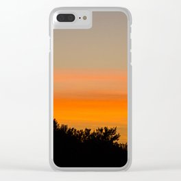 Shadow Sunset Clear iPhone Case