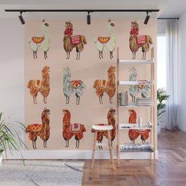 llamas pattern Wall Mural