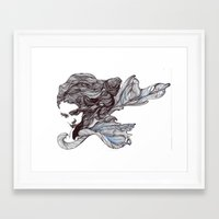 wings Framed Art Prints featuring Wings by Ilariabp.art