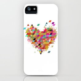 Heart1 White iPhone Case