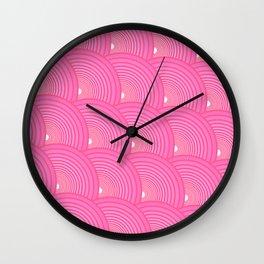 Arches - Rose Madder Wall Clock
