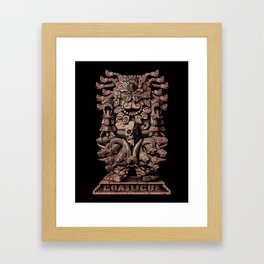 Coatlicue Framed Art Print