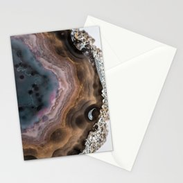 Multi-colored Agate slice Stationery Cards