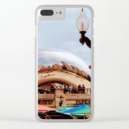Chicago Old and New Clear iPhone Case