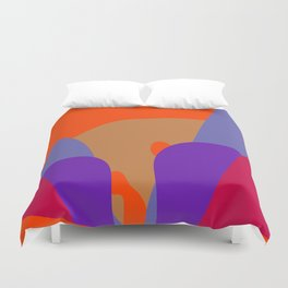 Abstract Flower in Red Orange Blue and Purple Duvet Cover