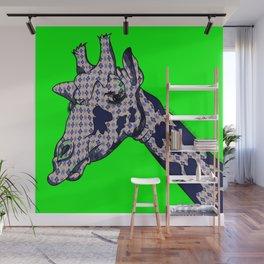 Argyle Giraffe Wall Mural